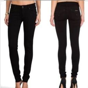 Hudson Black Denim Collin Flap Skinny Jeans